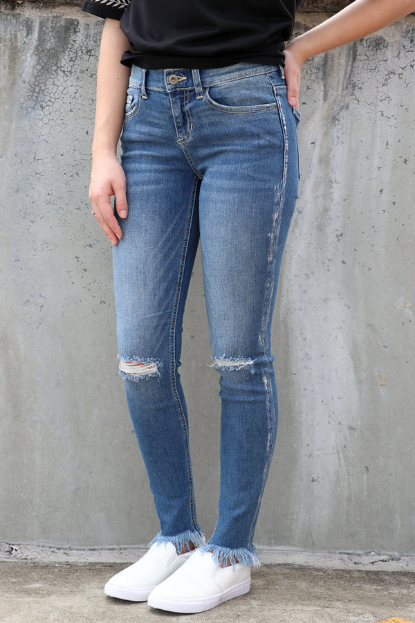 1 / Md. Light Saige Skinny Jeans - Madison + Mallory