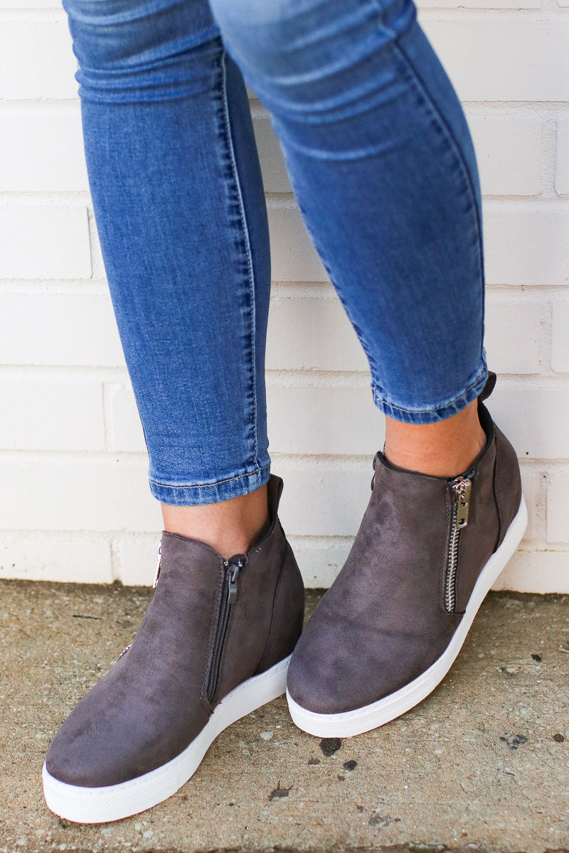 On the Rise Wedge Sneakers - Madison + Mallory