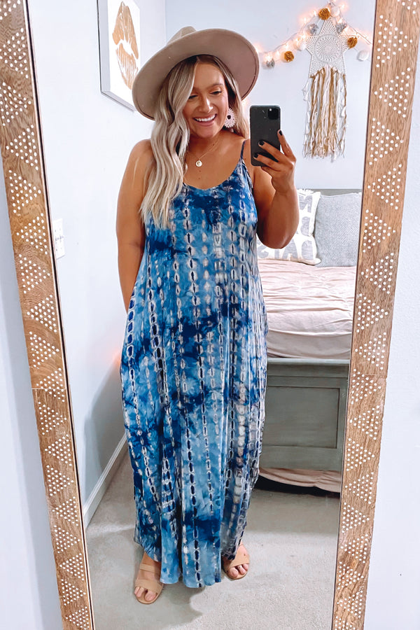 Andrina Tie Dye Maxi Dress - Madison and Mallory