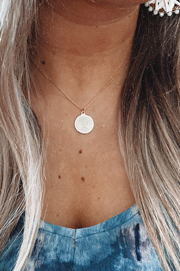 Gold Provence Coin Necklace - Madison and Mallory