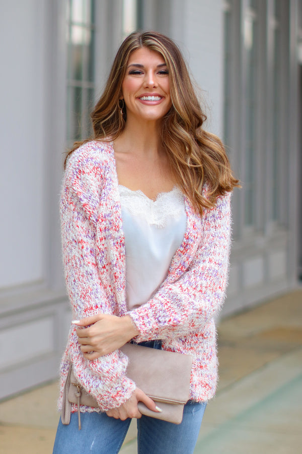 Crabapple / S You're Welcome Multi Knit Cardigan - Crabapple - Madison + Mallory