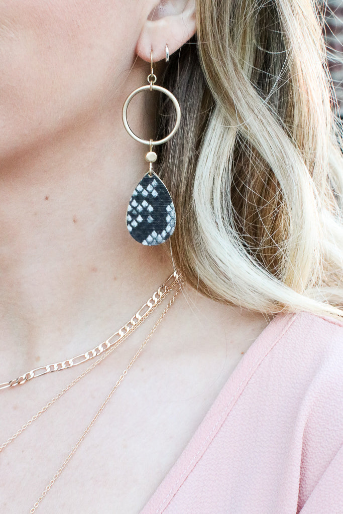 Gray Tamed by You Animal Print Earrings + MORE COLORS - Madison + Mallory