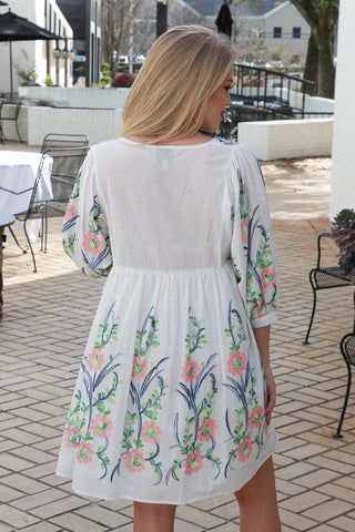 Embroidered Floral Dress | CURVE - Madison + Mallory