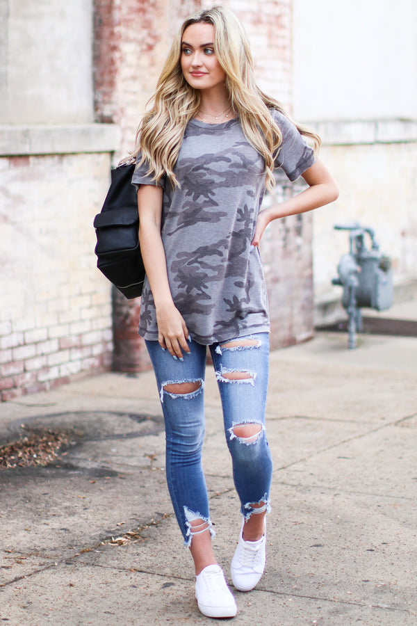 In Action Camo Print Top - Madison and Mallory