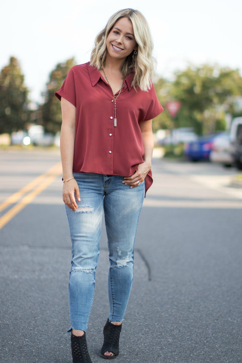 Maxine Button Down Top - Madison + Mallory
