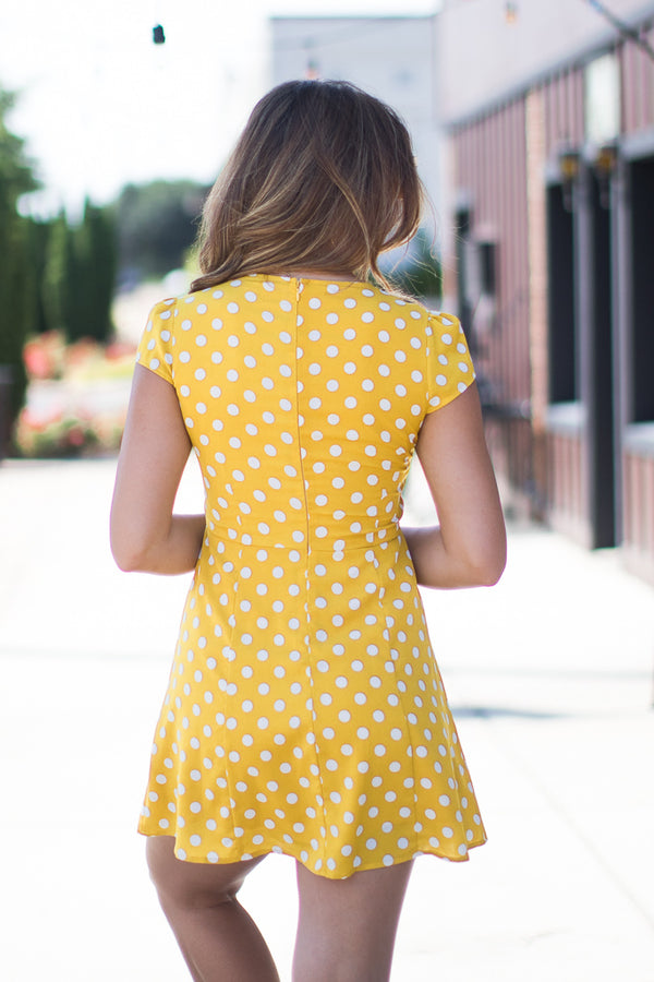 Dot it Up Dress - Madison + Mallory