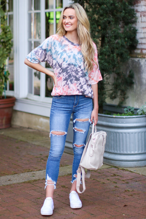 Isola Tie Dye Print Top - Madison and Mallory