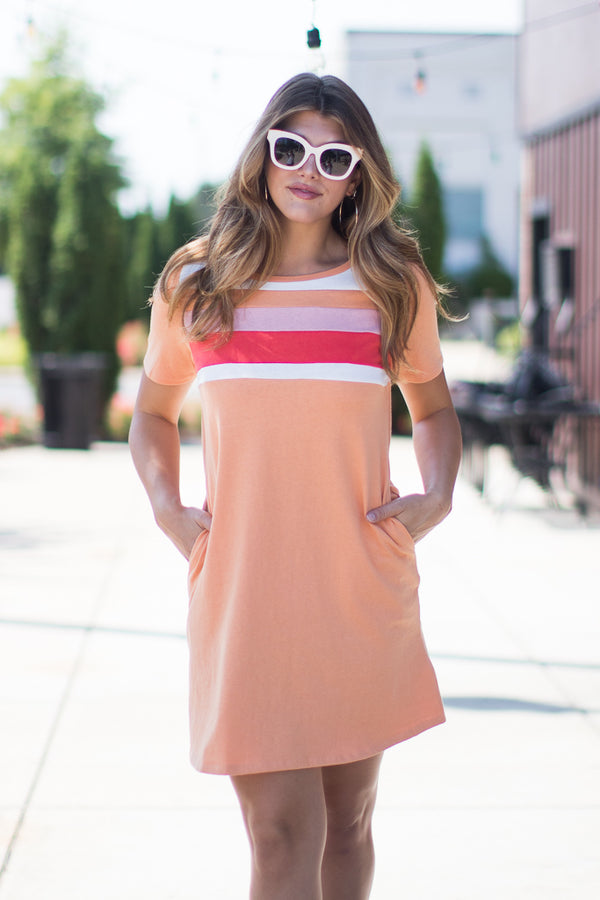 S / Mango Retro Love Striped Dress - Madison + Mallory