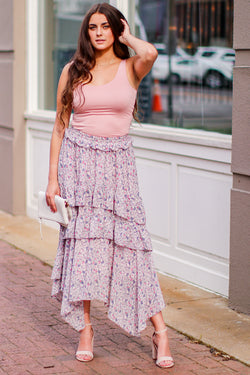 Melody Garden Floral Maxi Skirt - Madison and Mallory