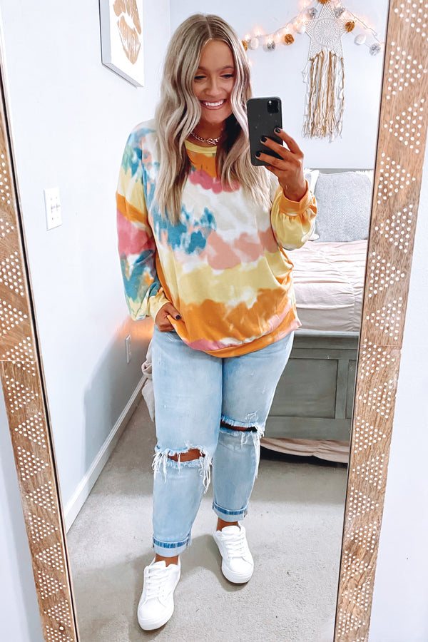 Rhapsody Tie Dye Pullover - Madison and Mallory