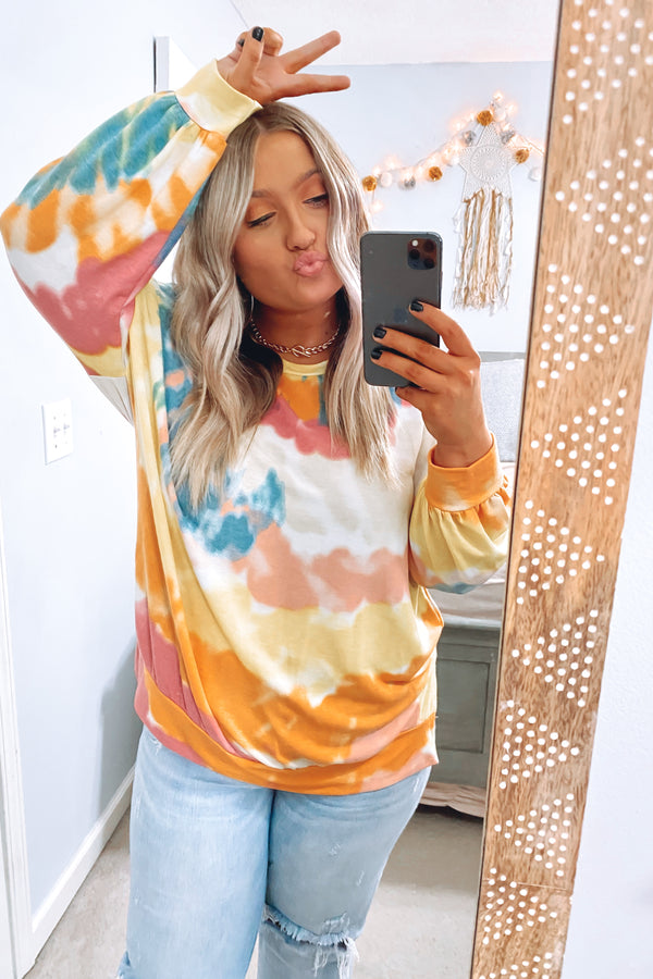 S / Multi Rhapsody Tie Dye Pullover - Madison and Mallory