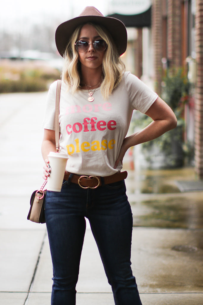 More Coffee Please Graphic Top | Curve - Madison + Mallory
