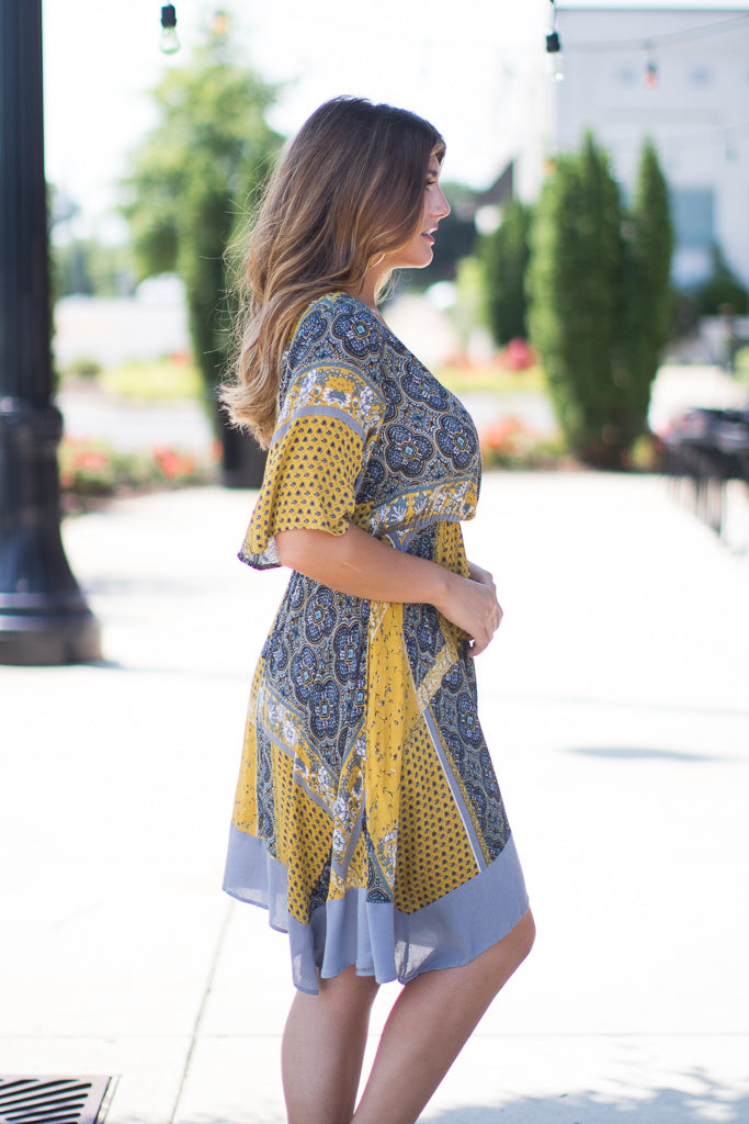 Watch Her Go Bandana Dress | CURVE - FINAL SALE - Madison + Mallory