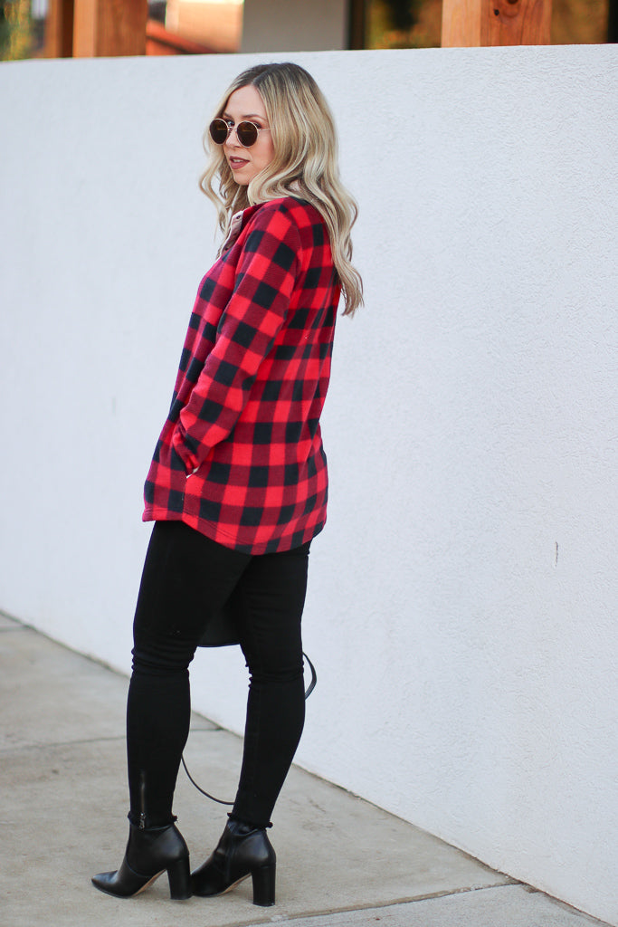 Present in Plaid Pullover - Madison + Mallory