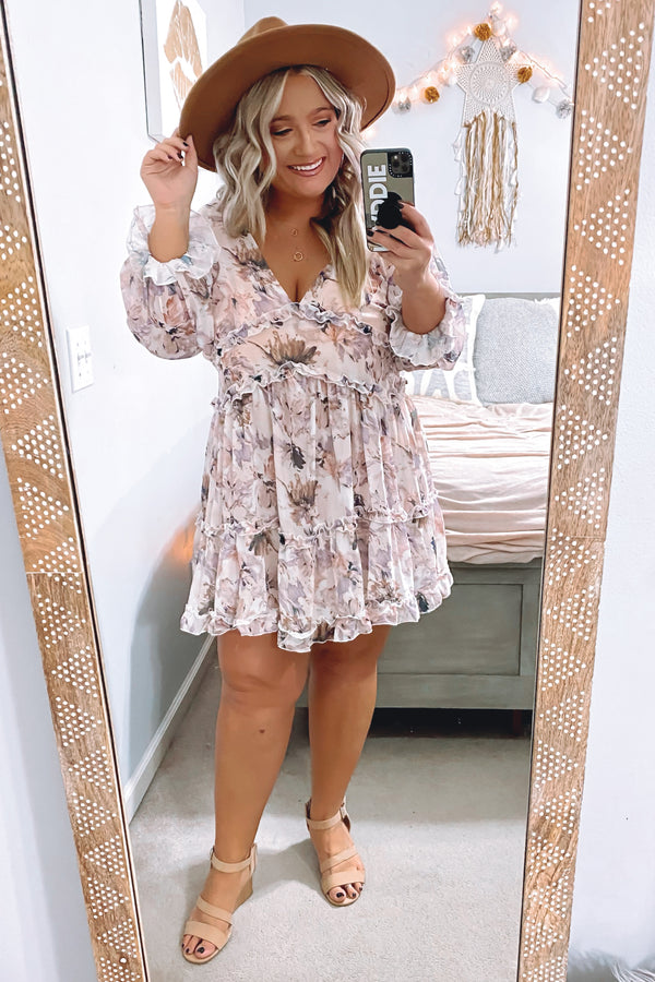 Bloom On Floral Ruffle Dress - Madison and Mallory