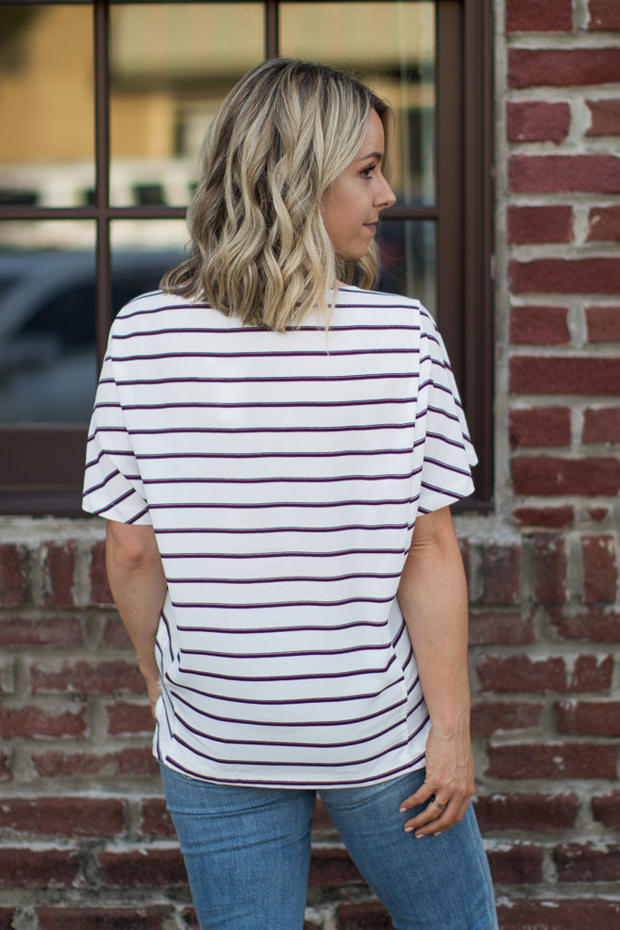 Haley Striped Top - Madison + Mallory