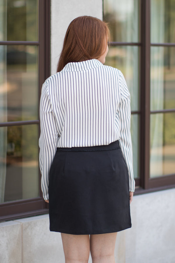 Zipper Front Skirt - FINAL SALE - Madison and Mallory