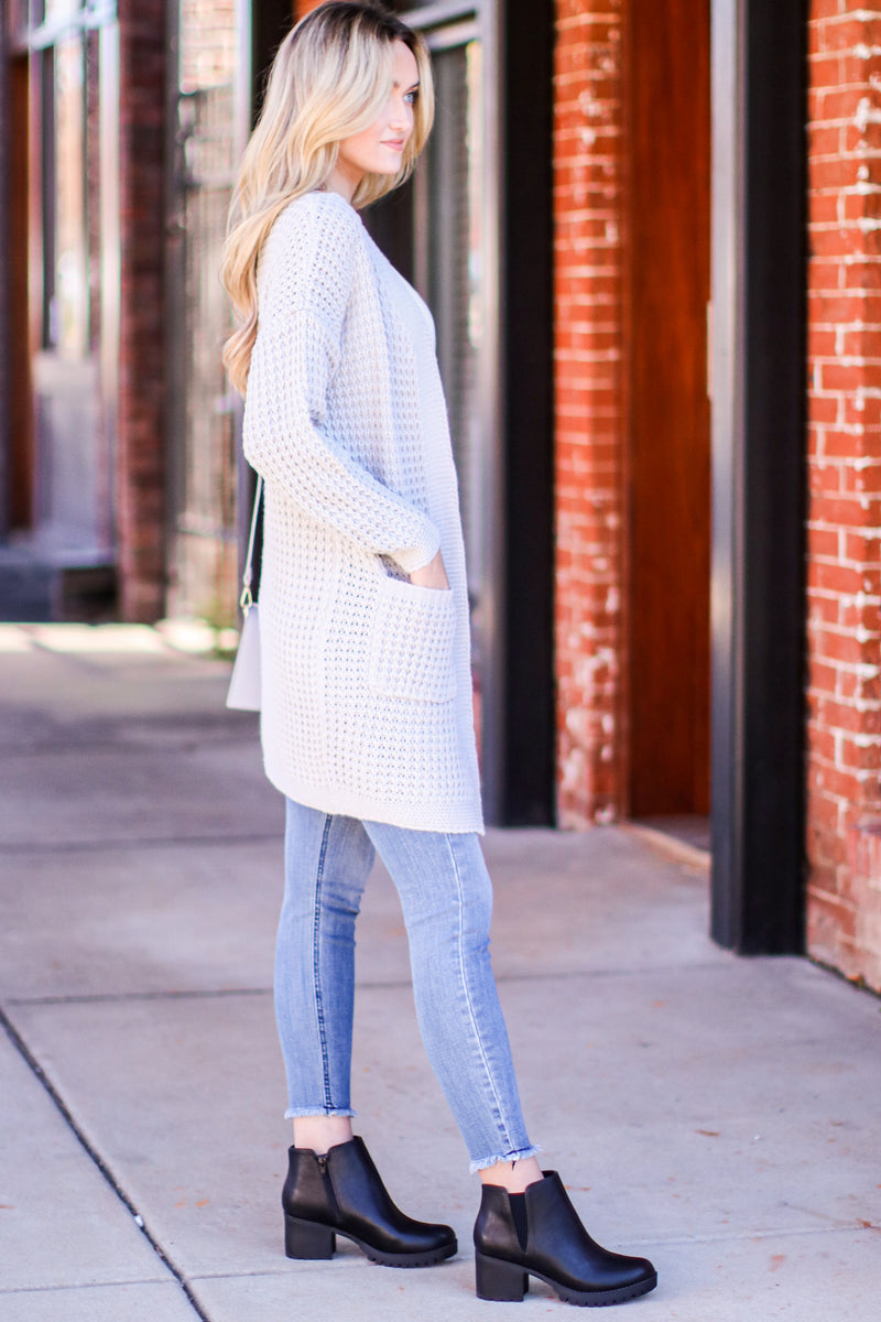 Noted Character Long Sleeve Knit Cardigan - Madison and Mallory