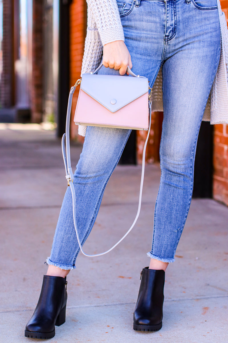Sorted Past Color Block Envelope Crossbody Bag - Madison and Mallory