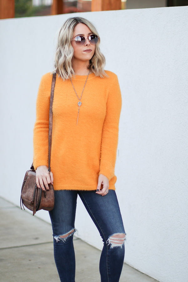 Mustard / S Bryson Super Soft Sweater - Mustard - Madison + Mallory