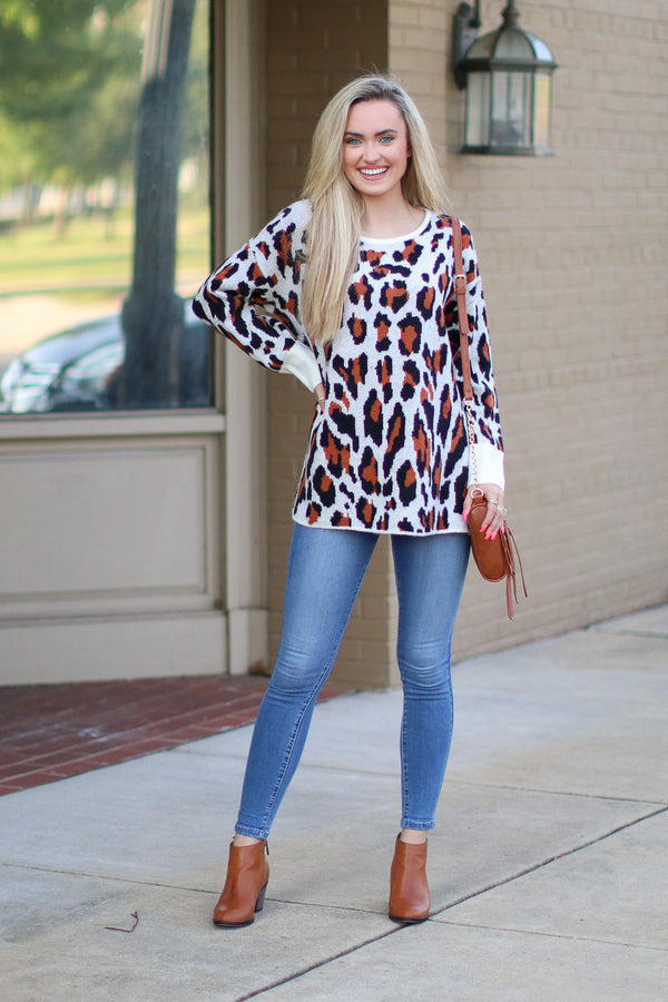 Seeing Spots Leopard Sweater | CURVE - Madison + Mallory