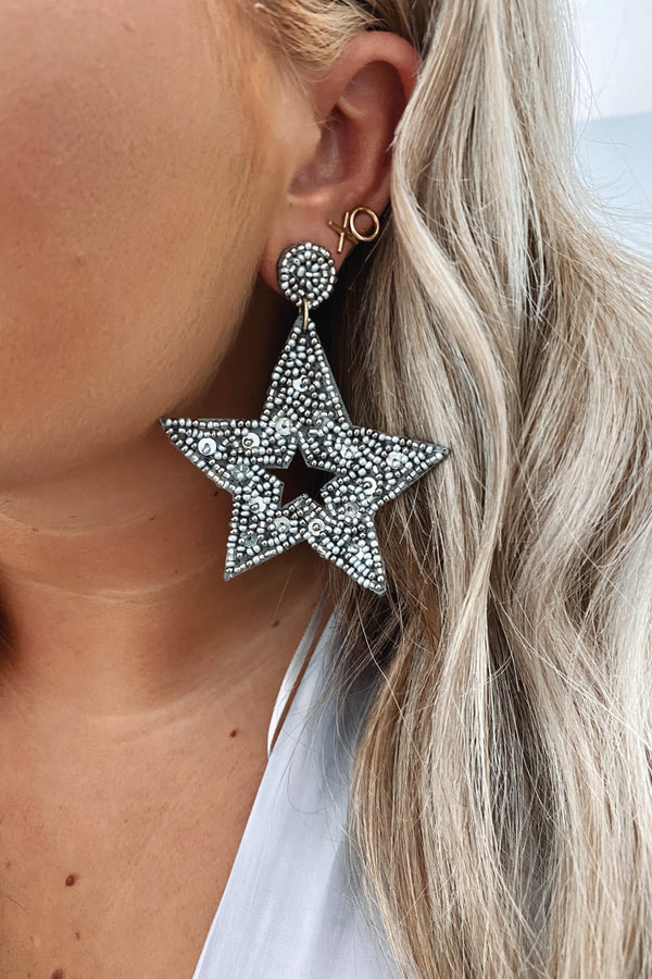 Kaleidoscope Beaded Star Earrings - Madison and Mallory