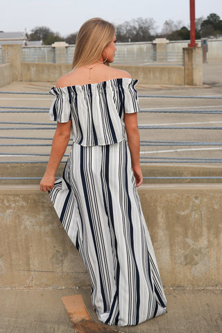 Striped Maxi Flyaway Shorts