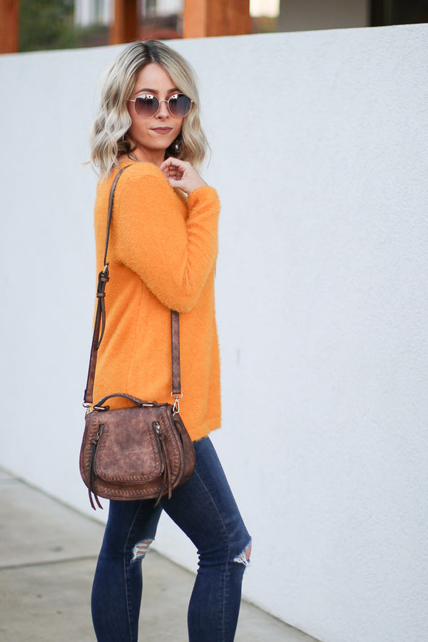 Bryson Super Soft Sweater - Mustard - Madison + Mallory