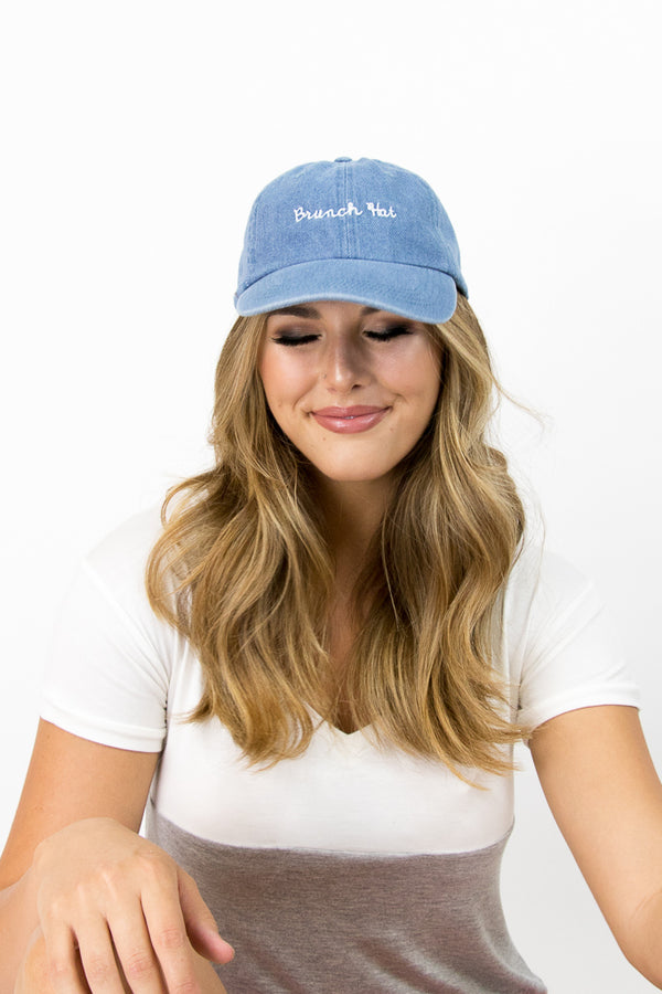Blue Brunch Hat - FINAL SALE - Madison + Mallory