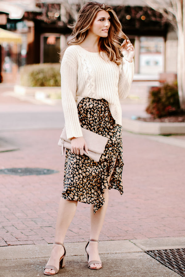 Welcome to the Jungle Animal Print Ruffle Skirt - Madison + Mallory