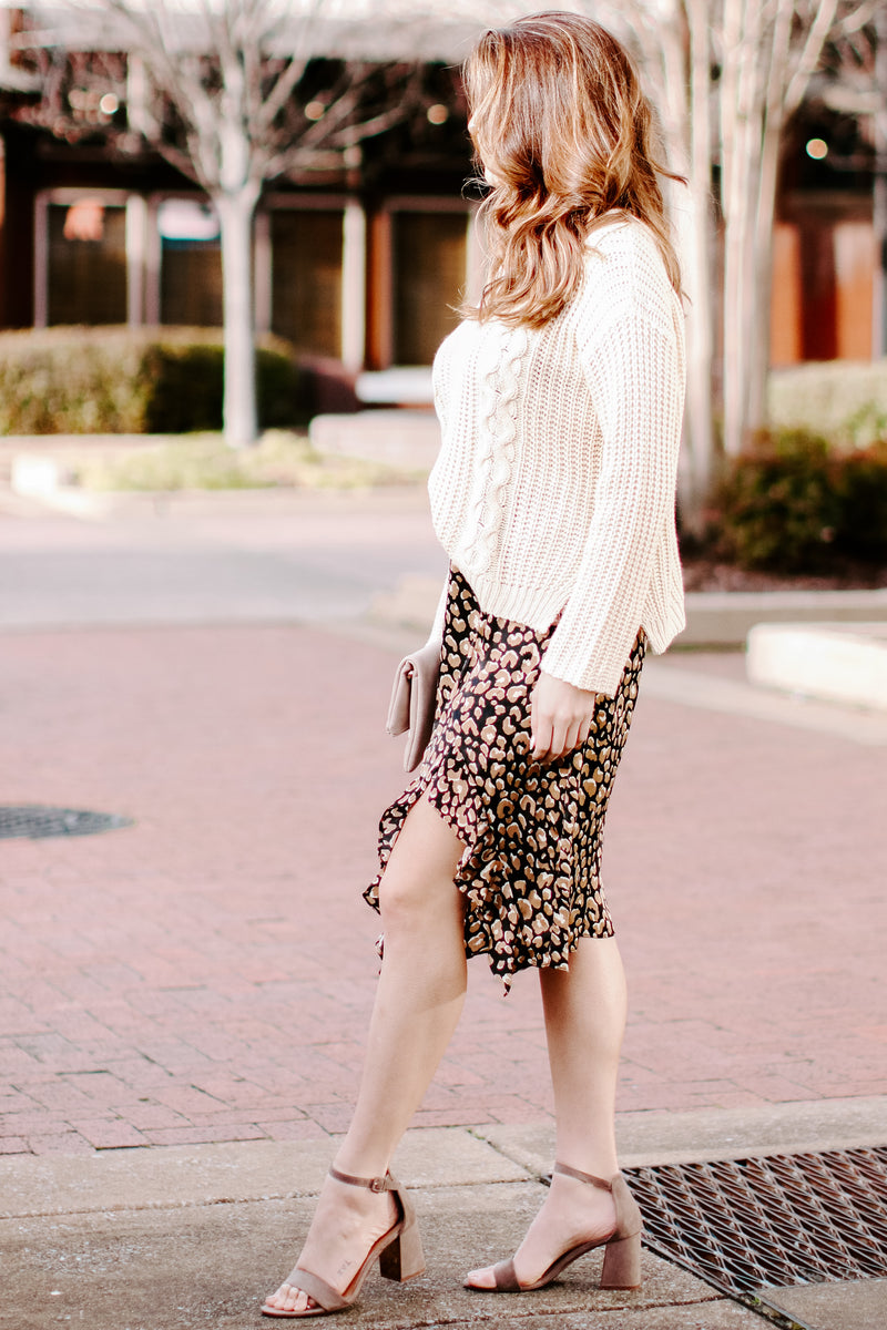 Welcome to the Jungle Animal Print Ruffle Skirt - Madison and Mallory