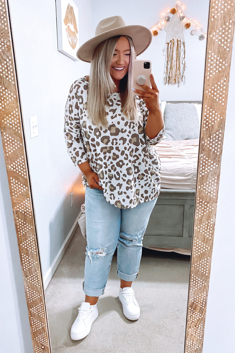 Orvieto Animal Print Top - FINAL SALE - Madison and Mallory