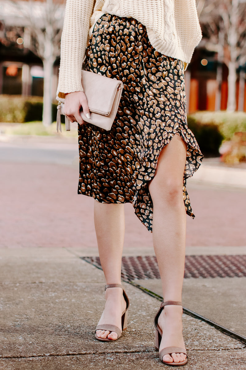 S / Black Welcome to the Jungle Animal Print Ruffle Skirt - Madison and Mallory