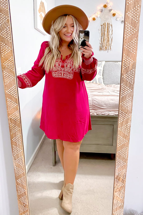 Ambrie Boho Embroidered Dress - FINAL SALE - Madison and Mallory