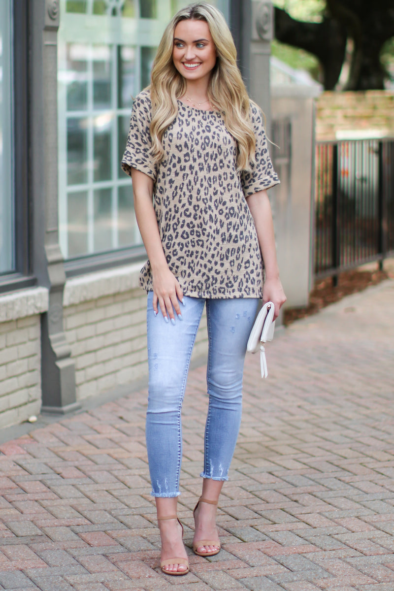 Downtime Animal Print Top - FINAL SALE - Madison and Mallory