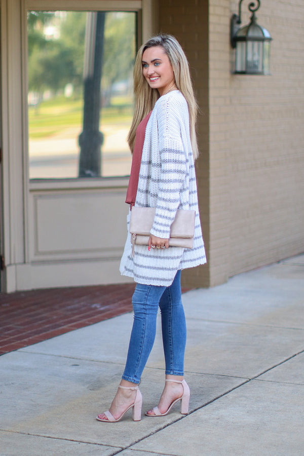 How Long Gone Striped Cardigan - FINAL SALE - Madison and Mallory