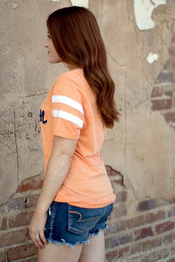 Auburn Fresh Script Tee | CURVE - Madison and Mallory