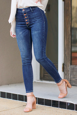 1 / Dark Trust the Timing High Rise Jeans - Madison + Mallory