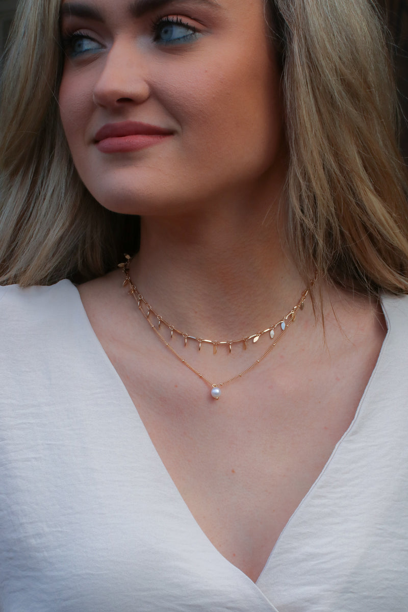 Gold Kaena Layered Pearl Necklace - Madison and Mallory