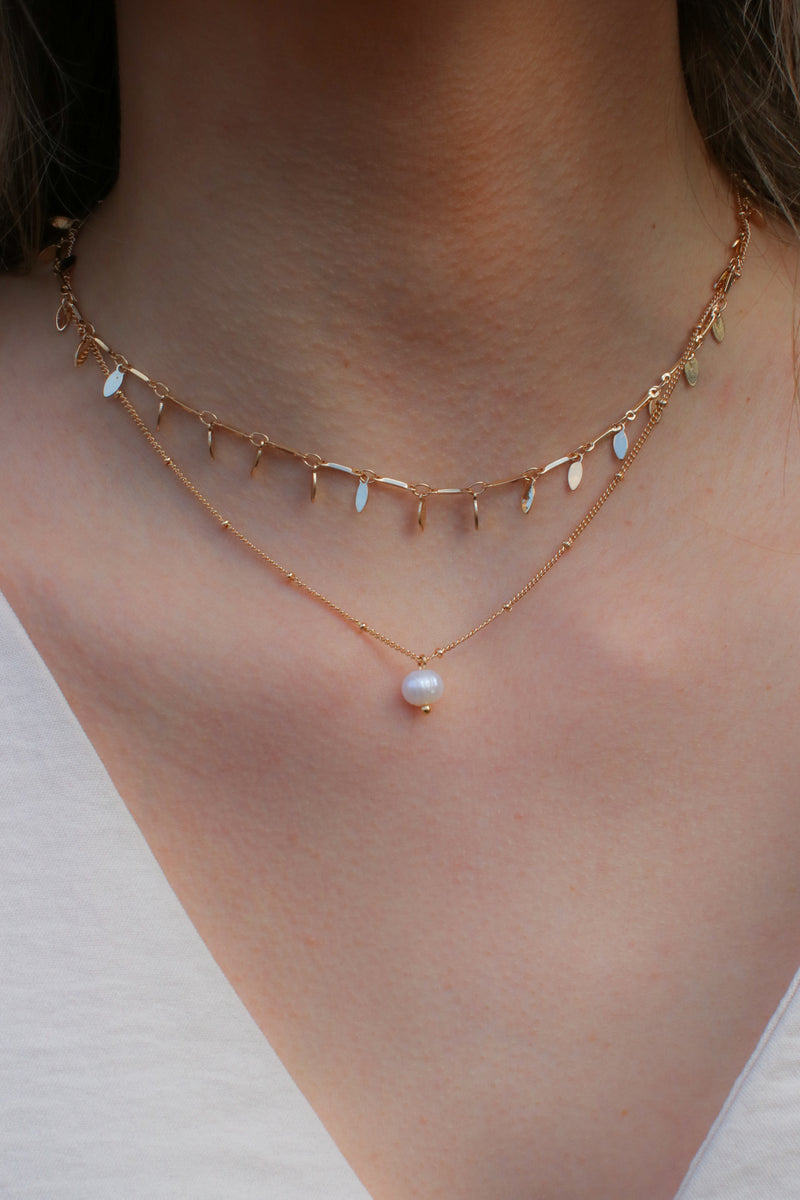 Kaena Layered Pearl Necklace - Madison and Mallory