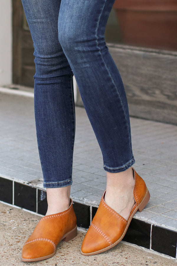 Nadeen Patterned Cutout Flats - FINAL SALE - Madison and Mallory