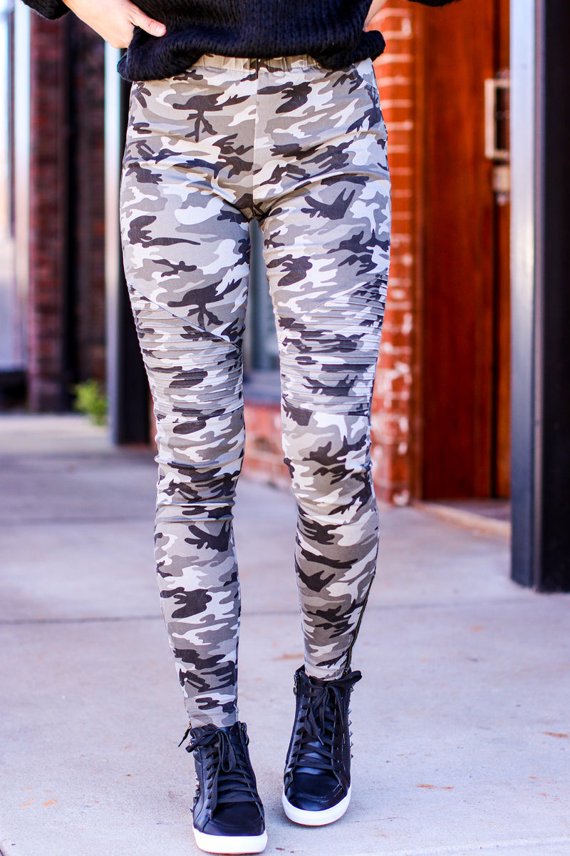 Haddix Moto Camo Pull On Skinny Jeans - Madison and Mallory