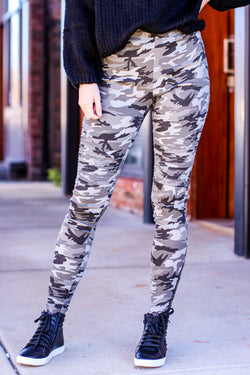 S / Black Haddix Moto Camo Pull On Skinny Jeans - Madison and Mallory