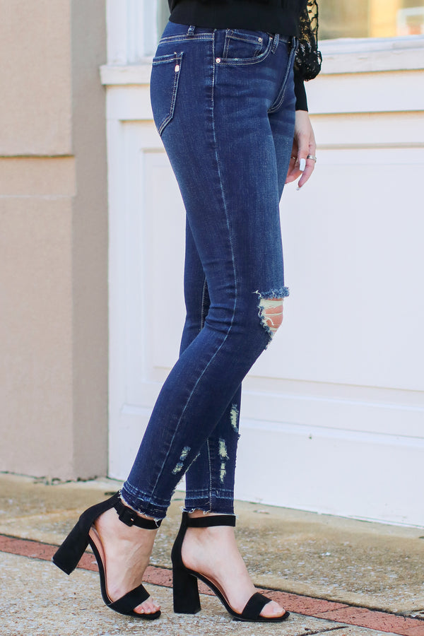 Kalonia Distressed Skinny Jeans - Madison and Mallory