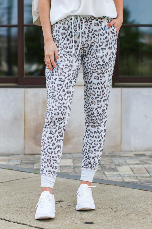 Copiah Animal Print Joggers - Madison and Mallory