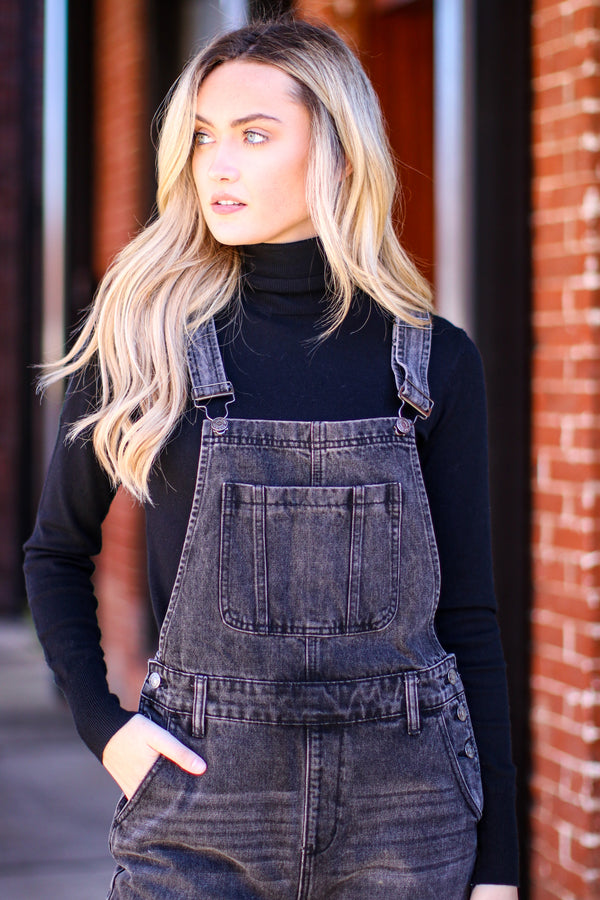 Cool Points Relaxed Fit Overalls - Madison and Mallory