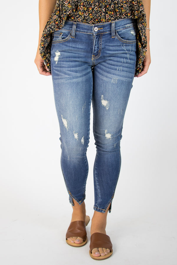 Gia Distressed Skinny Jeans - Madison + Mallory