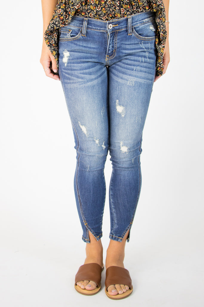 25 Gia Distressed Skinny Jeans - Madison + Mallory