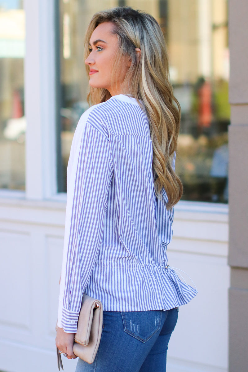 Windsong Layered Look Striped Top - FINAL SALE - Madison and Mallory