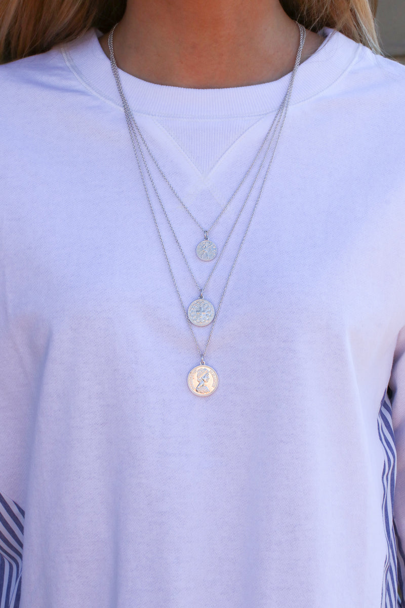 Ursa Coin Layered Necklace - Madison + Mallory